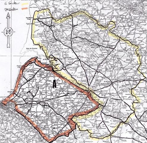 Carte des 6ème et 7ème secteurs de psychiatrie de la Somme