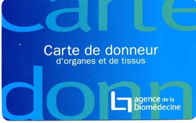 carte de donneur d organe Dons d'organes   Centre Hospitalier d'Abbeville